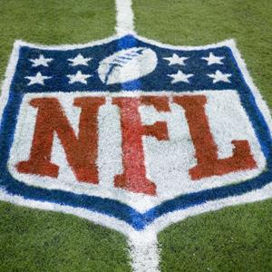 NFL logo painted on a field © Rick Osentoski/AP