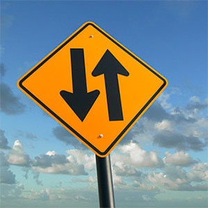 Two way traffic sign © Guy Crittenden, Photographer