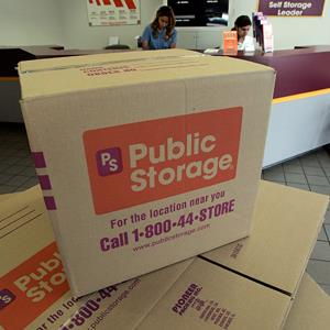File photo of boxes at a Public Storage location in Eagle Rock, Los Angeles (© Ric Francis/AP)