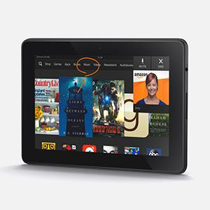 This undated photo provided by Amazon shows Amazon's new kindle fire HDX tablet. Amazon is the latest company to unveil new tablets, including a new 7 inch Kindle Fire HDX. (Amazon/AP)