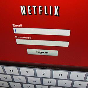 Netflix login screen. © Mike Blake/Newscom/Reuters;