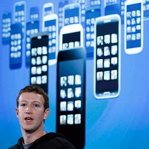 Facebook CEO Mark Zuckerberg during a press event in Menlo Park, Calif., on April 4, 2013 (© Robert Galbraith/AP)
