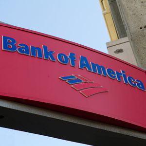 Bank of America Corp. signage is displayed outside of a branch in San Francisco, California David Paul Morris/Bloomberg via Getty Images