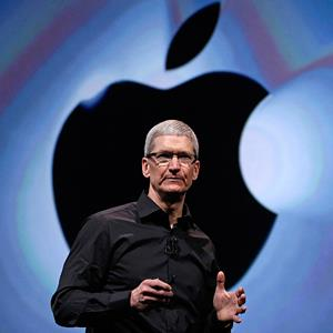 Apple CEO Tim Cook speaks in San Francisco, Calif., on September 12, 2012 (© Eric Risberg/AP)