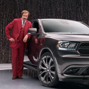 "Ron Burgundy anchors new 2014 Dodge Durango advertising campaign in unique partnership with Dodge brand and Paramount Pictures upcoming film ""Anchorman 2: The Legend Continues"" 