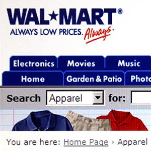 The Wal-Mart Store web site © Scott Olson/Getty Images