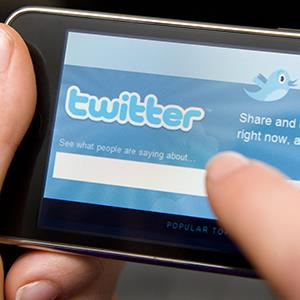 Twitter website on an iPhone (© Jonathan Hordle/Rex Features)