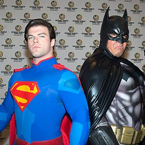 Men dressed as Superman & Batman attend Nashville Comic Con 2013 © Beth Gwinn/Getty Images