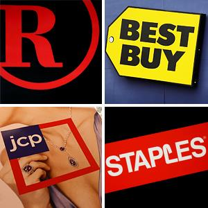 Radio Shack; Best Buy; Staples; JC Penney © Gabriel Bouys/AFP/Getty Images; Scott Olson/Getty Images; Lisa Poole/AP; Scott Olson/Getty Images