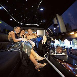 Logo: Teens in limousine (IT Stock Free/PictureQuest)