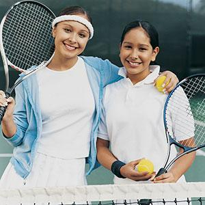 Logo: Girls playing tennis (Digital Vision)