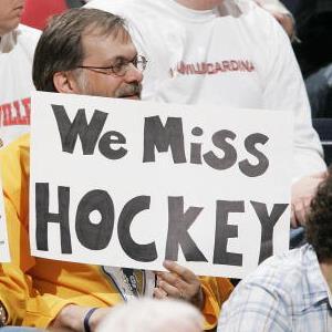 Credit: Brian Bahr/Getty ImagesCaption: Fans show their feelings regarding a NHL lockout