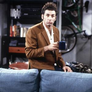 Michael Richards as Cosmo Kramer during an episode of Seinfeld (Maria McCarty/NBC/NBCU Photo Bank via Getty Images)