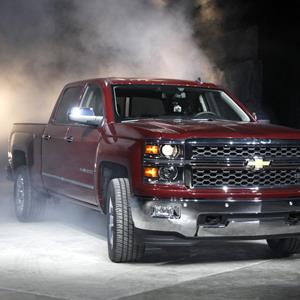Correct caption/Credit: The 2014 Chevrolet Silverado debuts in Pontiac, Mich., Thursday, Dec. 13, 2012 ( Paul Sancya/AP Photo)