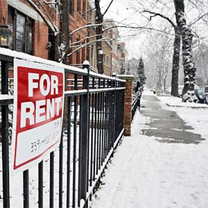 House for rent in the middle of winter -- David Joel, Photographer