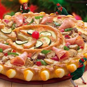 Pizza Hut Singapore's Double Sensation Pizza (Pizza Hut Singapore via Facebook, http://aka.ms/PizzaHutSingapore)