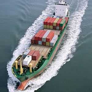 Image: Cargo ship (Image Source/Corbis)