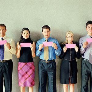 Image: Unemployment line up ( BananaStock/SuperStock)