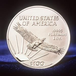 U.S. Mint handout photo of the one-ounce $100 platinum coin (© AP Photo/US Mint)