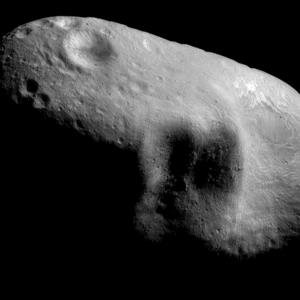 Image provided by NASA showing the near-Earth asteroid Eros on March 3, 2000 ( AP Photo/NASA)