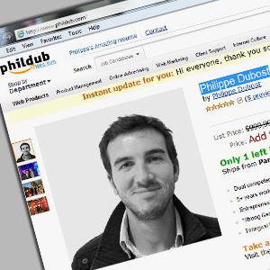 Screenshot from Philippe Dubost's online resume (Philippe Dubost, http://www.phildub.com/)