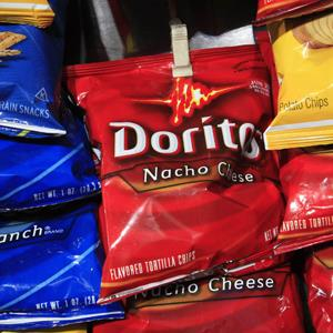 File photo of a bag of Doritos among other chips, at a kiosk in New York (Mark Lennihan/AP Photo)