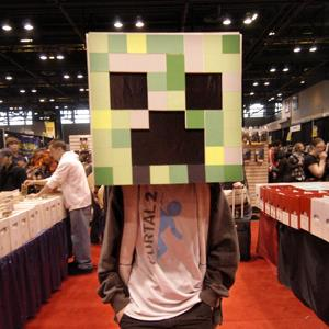 Lucas Simes of Chicago dresses as a 'Creeper' from the video game Minecraft at the Chicago Comic & Entertainment Expo on March 20, 2011 (Paul Warner/WireImage/Getty Images)