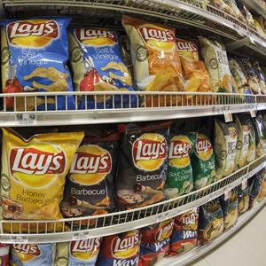 Lay's chips on a supermarket shelf at Kings Food Market in Midland Park, New Jersey (James Leynse/30127183A/Corbis)