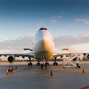 747 plane landed, Miami airport, Florida -Juan Silva, Photographer
