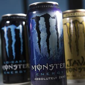 Cans of Monster Beverage Corp. energy drinks (David Paul Morris/Bloomberg via Getty Images)