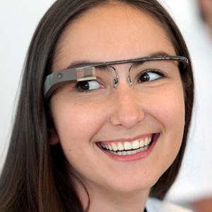 A Google employee wears a pair of Glass during Google's Developers Conference on June 27, 2012 in San Francisco, Calif. (Mathew Sumner/Getty Images)