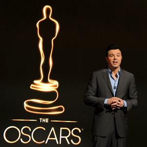 Actor Seth MacFarlane on stage during the 85th Academy Awards Nominations Announcement on January 10, 2013 (Jennifer Graylock/FilmMagic/Getty Images)