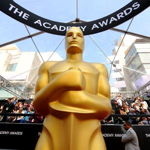File photo of an Oscars statuette at the 84th Annual Academy Awards in Los Angeles, California on Feb. 26, 2012 (© REX Features)