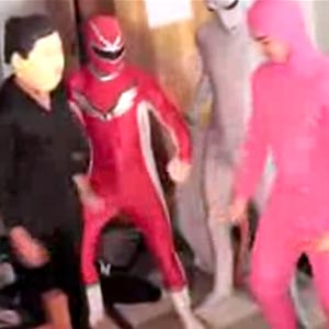 Video still of costumed men dancing to 'Harlem Shake' (Courtesy of Youtube.com/DizastaMusic)