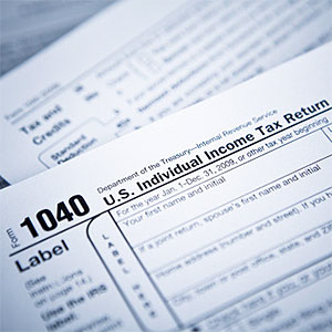 Income tax numbers at the accountant