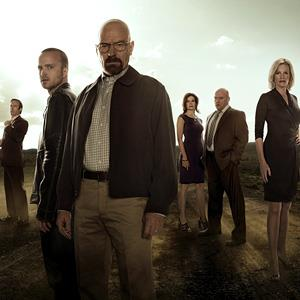 File promotional photo of the season five cast of Breaking Bad (© Frank Ockenfels/AMC)