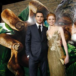Cast members Nicholas Hoult and Eleanor Tomlinson pose at the premiere of