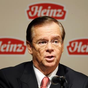 Heinz Company Chairman, President and CEO William R. Johnson during a news conference in Pittsburgh, Penn. on February 14, 2013 (&#169; Jason Cohn/Newscom/Reuters)