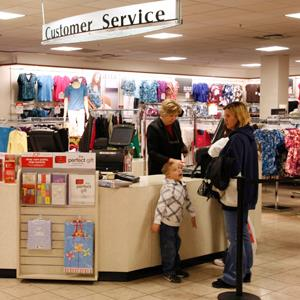 Customer Service counter at the J.C. Penney store in Westminster, Colorado on February 20, 2009 (&#169; RICK WILKING/Newscom/RTR)