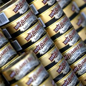 File photo of Bumble Bee Tuna cans (Chris Weeks/WireImage for Silver Spoon)