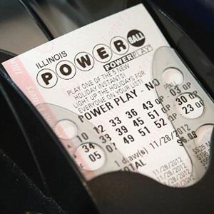 Image: Powerball lottery ticket at a 7-Eleven store in Chicago, Ill., on November 28, 2012 (© Scott Olson/Getty Images)