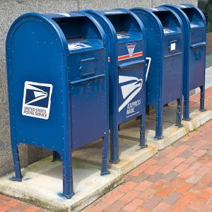 Mailboxes in Providence, Rhode Island (© Barry Winiker/Photolibrary/Getty Images)