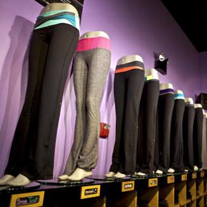 File photo of Groove pants on display at the Union Square Lululemon retail store in New York, on Sept. 15, 2010 (&#169; Benjamin Norman/Bloomberg via Getty Images)