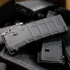 30-round capacity ammunition magazines inside the Magpul Industries plant, in Erie, Colo., on February 28, 2013 (© Brennan Linsley/AP)