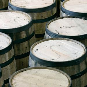 File photo of bourbon barrels at the Woodford Reserve distillery in Versailles, Ky. ( Ed Reinke/AP)