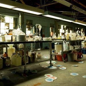 Illegal meth lab (© byllwill/Vetta/Getty Images)