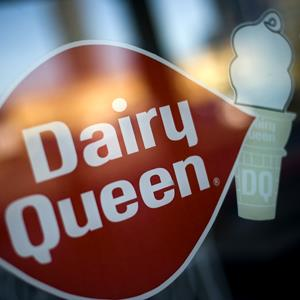 The Dairy Queen logo on a store front in Arlington, Virginia (© SHAWN THEW/epa/Corbis)