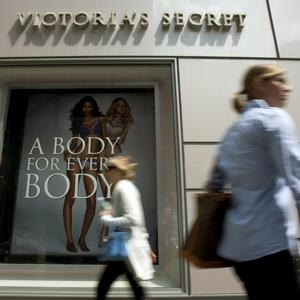 Pedestrians walk past a Victoria's Secret store in New York (Scott Eells/Bloomberg via Getty Images)