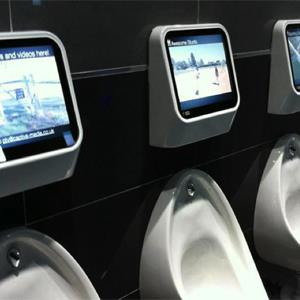 Captive Media's urinal gaming system (© Captive Media)