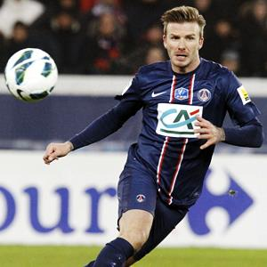 David Beckham of Paris Saint-Germain (© Xavier Laine/Getty Images)